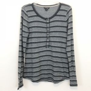 Lucky Brand Long Sleeve Henley Tshirt with Buttons